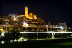 Gammal domkyrka av Lleida som är bekant som `-Seu Vella `, Arkivfoto