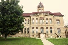 Gammal domstolsbyggnad i Carrollton, Greene County Royaltyfri Foto