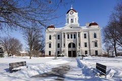 Gammal domstolsbyggnad i Carthage, Illinois Royaltyfria Foton
