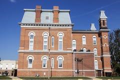 Gammal domstolsbyggnad i Hillsboro, Montgomery County Royaltyfri Foto