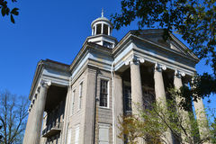 Gammal domstolsbyggnad i Vicksburg, Mississippi arkivfoton