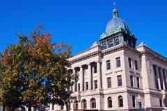 gammal domstolsbyggnadmanitowoc Arkivbild