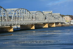 Gammal drawbridge Fotografering för Bildbyråer