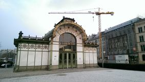 Gammal drevstation i Wien Fotografering för Bildbyråer