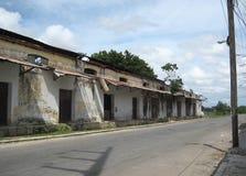 Gammal drevstation Mérida, utkant för Yucatà ¡ n av staden royaltyfri foto