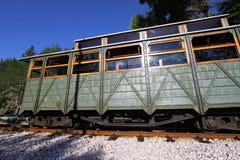 Gammal drevvagn i station Royaltyfri Fotografi