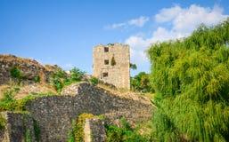 Gammal Drobeta Turnu Severin Romania fästning Arkivbilder