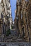 Gammal Dubrovnik gata, Kroatien arkivfoton