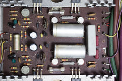 Gammal eclectronic strömkrets royaltyfri bild