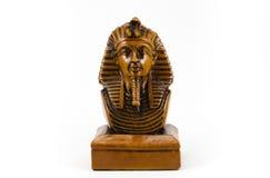 Gammal egyptisk faraostaty arkivbilder