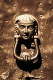 Gammal egyptisk portklapp Royaltyfri Fotografi