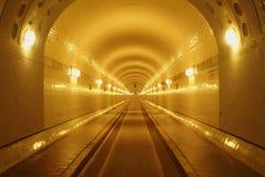 Gammal Elbe tunnel Arkivfoto