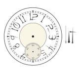 Gammal elegant mall för klockaframsida med tal och pilar Royaltyfria Foton