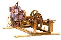 Gammal elektrisk generator Arkivbilder