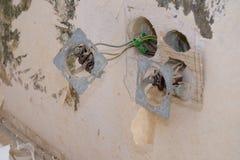 Gammal elektrisk installation Royaltyfria Foton