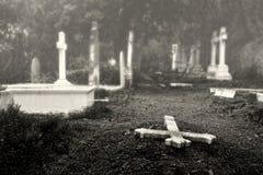 Gammal engelsk kyrkogård i landskapet av MÃ-¡ lagaen Royaltyfria Bilder