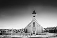 Gammal episkopalkyrkan på vårbergranchen Musuem Arkivbilder