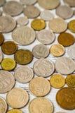Gammal europeisk myntsamling Fotografering för Bildbyråer