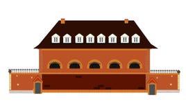gammal fängelsevektor stock illustrationer