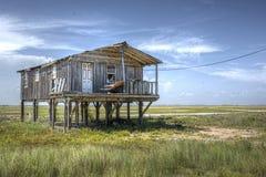 Gammal färg för Wood hus Arkivbild