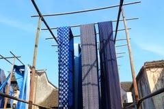 Gammal färga fabrik på en borggård i Kina Royaltyfri Fotografi
