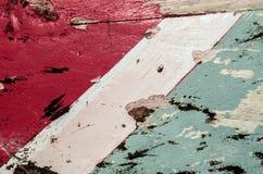Gammal färgrik skrapad trätextur royaltyfria bilder