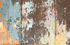 Gammal färgrik wood textur Royaltyfri Foto