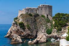 Gammal fästning av dubrovinik, Kroatien royaltyfria foton