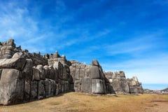 Gammal fästning för Inca arkivbild