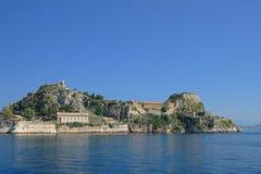 Gammal fästning i Corfu, Grekland Royaltyfria Bilder