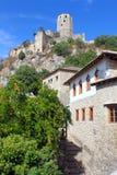 Gammal fästning i Pocitelj, Bosnien och Hercegovina Fotografering för Bildbyråer