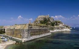 Gammal fästning, Kerkira, Korfu arkivbild