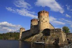 Gammal fästning Olavinlinna Arkivbild