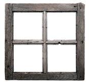 Gammal fönsterram fotografering för bildbyråer