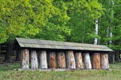 gammal by för bikupa Royaltyfria Bilder