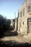 gammal by för porslin arkivbild