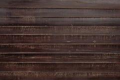 Gammal för staketbakgrund för mörk brunt trätextur royaltyfri bild