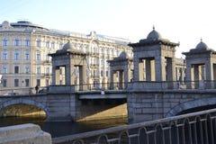 Gammal förstörd bro Royaltyfria Foton