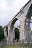 Gammal förstörd bro i Polen Royaltyfri Fotografi