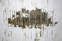 gammal förstörd texturvägg Royaltyfria Foton