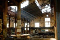 Gammal fabrik Arkivfoton
