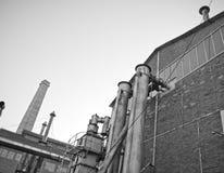 gammal fabrik Arkivbild