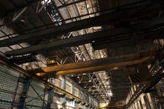 Gammal fabrik i Moskva Arkivbilder