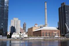 Gammal fabrik på Manhattan New York City Arkivbilder