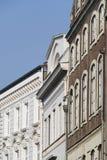 gammal facadegermany luebeck Arkivbilder