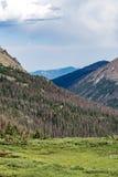 Gammal Fall River väg - nationalpark colorado för stenigt berg Arkivbild