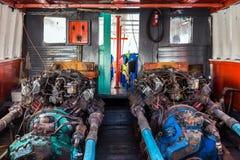 Gammal fartygmotor Fotografering för Bildbyråer