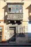 Gammal fasad, egenskap som är till salu i Malta Arkivbild