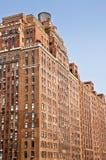 Gammal fasad för tegelstenbyggnad, Manhattan Arkivbilder