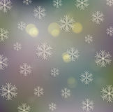 Gammal festlig julbakgrund med snöflingor royaltyfri illustrationer